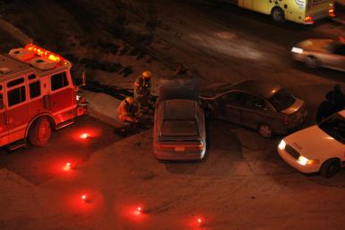 EMS Fire Police Flare Scene